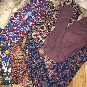 LuLaRoe lot bundle leggings one size 6 pairs all